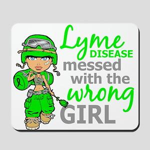 Lyme Disease Combat Girl Mousepad