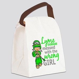 Lyme Disease Combat Girl Canvas Lunch Bag