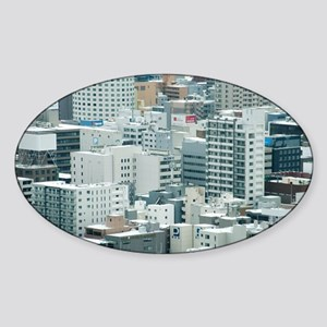 Urban Background Sticker (Oval)