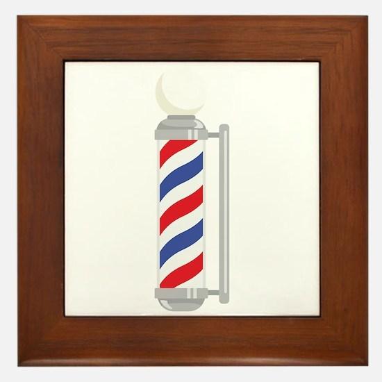 Barber Shop Pole Framed Tile