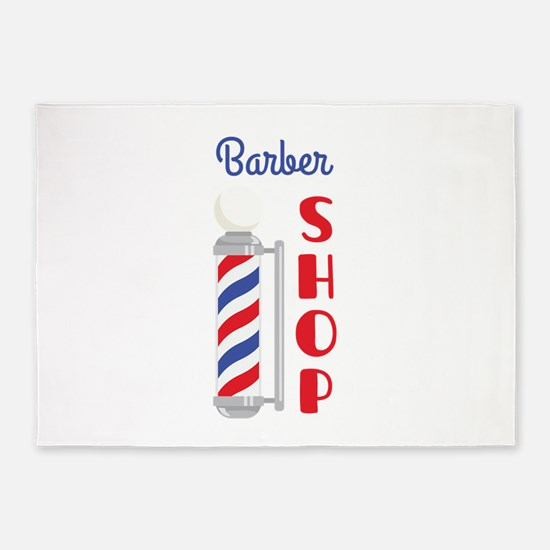 Barber Shop 5'x7'Area Rug