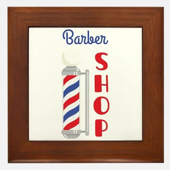 Barber Shop Framed Tile