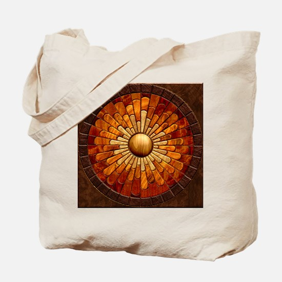 Harvest Moons Marquetry Sunburst Tote Bag