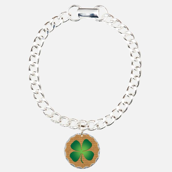 FOUR LEAF CLOVER Charm Bracelet, One Charm