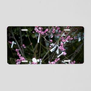 Omikuji Cherry Blossom Aluminum License Plate