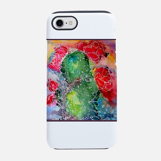 Colorful cactus, southwest desert art, iPhone 7 To