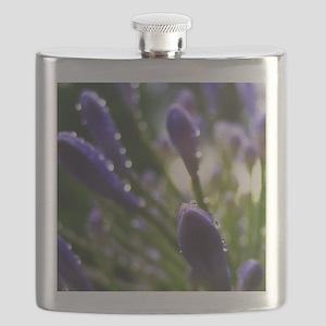 Purple Raindrops Flask