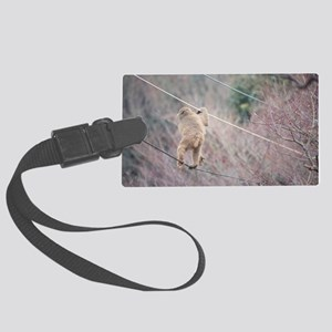 aerial monkey Large Luggage Tag