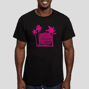 Palm beach - bananahar Men's Fitted T-Shirt (dark)