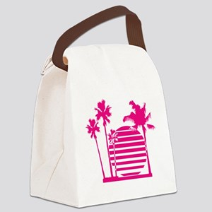 Palm beach - bananaharvest Canvas Lunch Bag