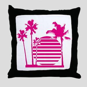 Palm beach - bananaharvest Throw Pillow