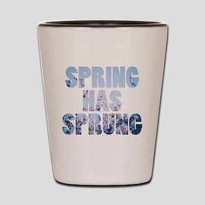 spring has sprung Shot Glass