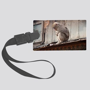 monkey on the roof Large Luggage Tag