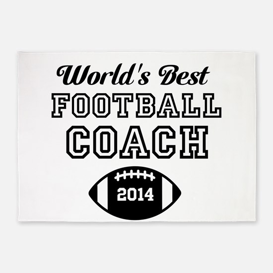 Worlds Best Football Coach 5'x7'Area Rug