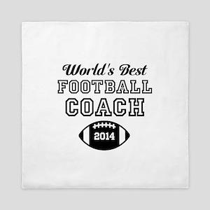 Worlds Best Football Coach Queen Duvet
