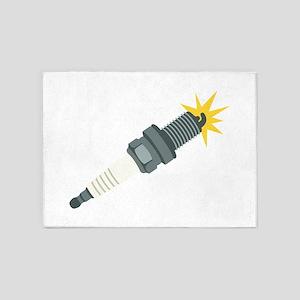 Automotive Spark Plug 5'x7'Area Rug