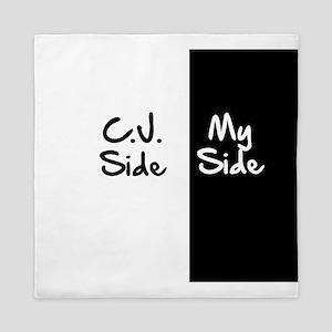 C.J. Side vs My Side Queen Duvet