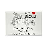 Suzuki Violin Bunnies Rectangle Magnet (10 pack)