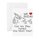 Suzuki Violin Bunnies Greeting Cards (Pk of 10)