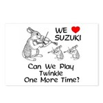 Suzuki Violin Bunnies Postcards (Package of 8)