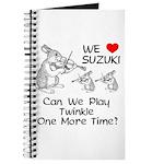 Suzuki Violin Bunnies Journal