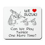 Suzuki Violin Bunnies Mousepad