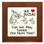 Suzuki Violin Bunnies Framed Tile
