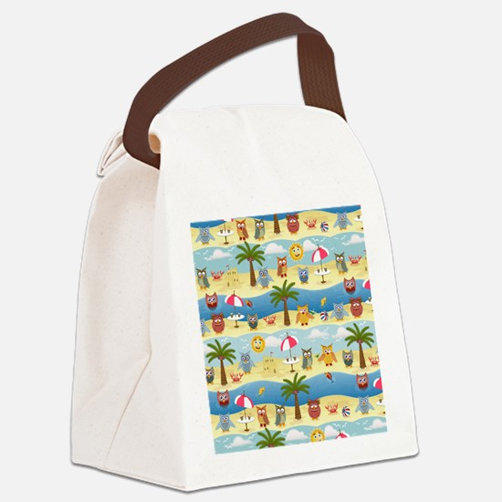 summer owls Canvas Lunch Bag