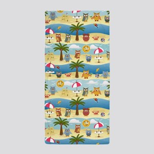 summer owls Beach Towel