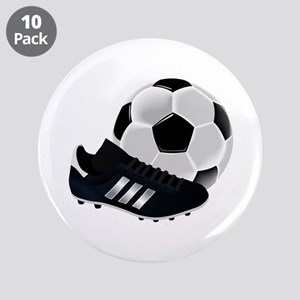 """Football And Boots 3.5"""" Button (10 Pack)"""