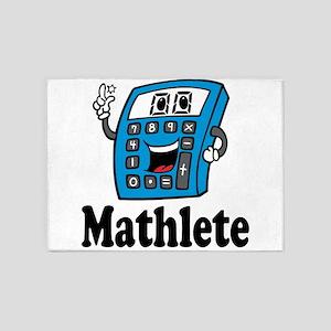 Mathlete calculator 5'x7'Area Rug