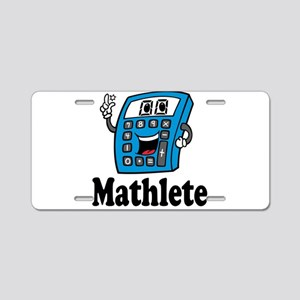 Mathlete calculator Aluminum License Plate