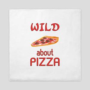 Wild About Pizza Queen Duvet
