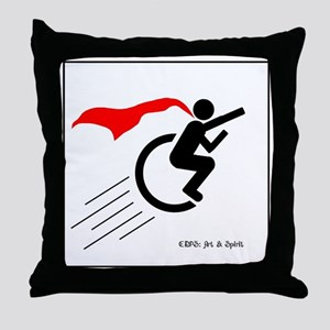 Wheelie Superhero Throw Pillow