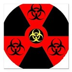 Radioactive Bio-hazard Extreme Square Car Magnet 3