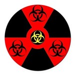 Radioactive Bio-hazard Extreme Round Car Magnet