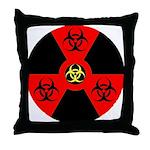 Radioactive Bio-hazard Extreme Throw Pillow