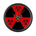 Radioactive Bio-hazard Extreme Large Wall Clock