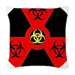 Radioactive Bio-hazard Extreme Woven Throw Pillow