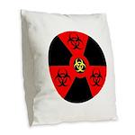 Radioactive Bio-hazard Extreme Burlap Throw Pillow