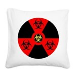Radioactive Bio-hazard Extreme Square Canvas Pillo