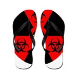 Radioactive Bio-hazard Extreme Flip Flops