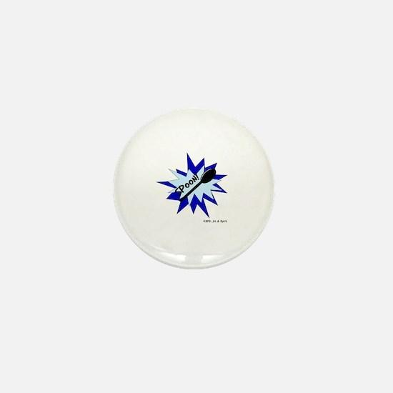 Spoon! in Blue Mini Button
