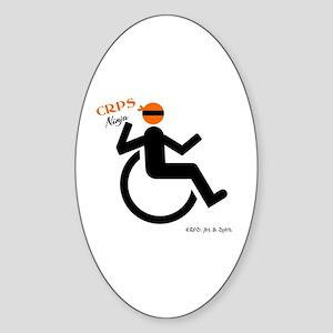 CRPS Wheelie Ninja Sticker (Oval)