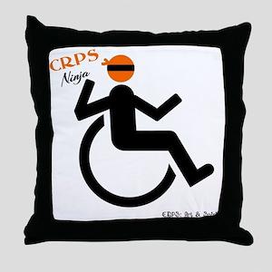 CRPS Wheelie Ninja Throw Pillow