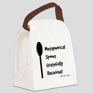Metaphorical Spoons Gratefully Re Canvas Lunch Bag