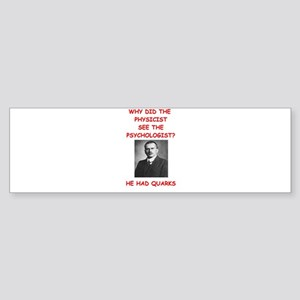 physics and carl jung Bumper Sticker