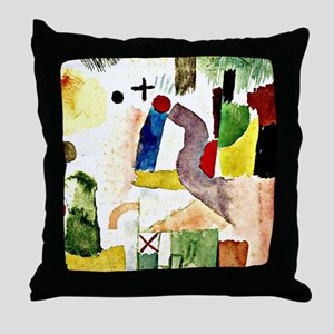 Klee - Pathetic Water Color, Red Throw Pillow