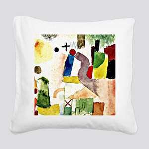 Klee - Pathetic Water Color,  Square Canvas Pillow