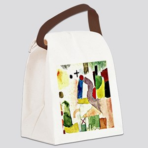 Klee - Pathetic Water Color, Red Canvas Lunch Bag
